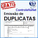 Controlenanet-Softwares online grátis, DUPLICATAS. www.controlenanet.com.br