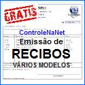 Controlenanet-Softwares online grátis, RECIBOS. www.controlenanet.com.br